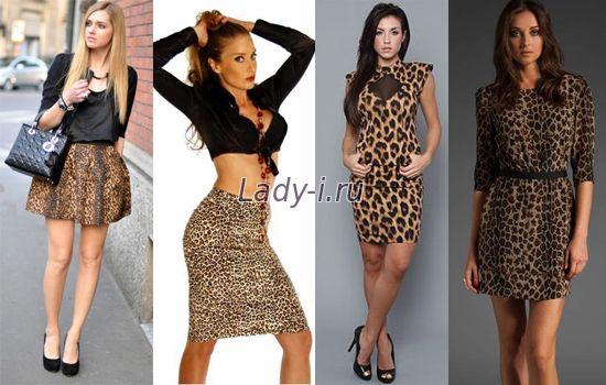 С леопардовым принтом платья