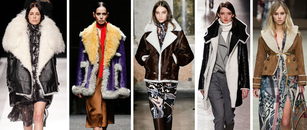 Модные дубленки осень-зима 2018-2019. Фото