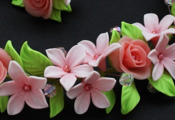 Серьги из пластики: цветы ландыши. Мастер — класс с фото