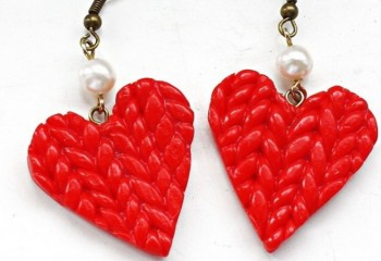 Серьги из полимерной глины «Космические сердечки». Мастер-класс