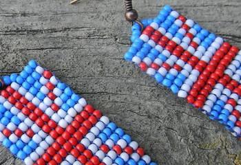 Как сделать серьги «Британский флаг» в технике квиллинг. Мастер — класс