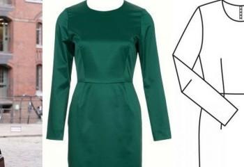 Как сшить платье — футляр своими руками
