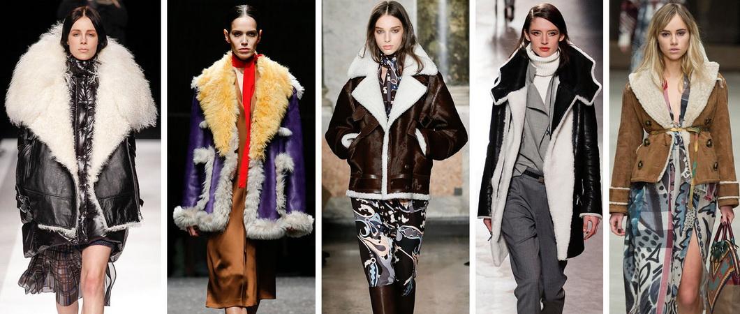 Модные дубленки осень-зима 2017-2018. Фото