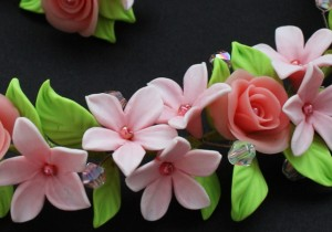 Серьги из пластики: цветы ландыши. Мастер - класс с фото