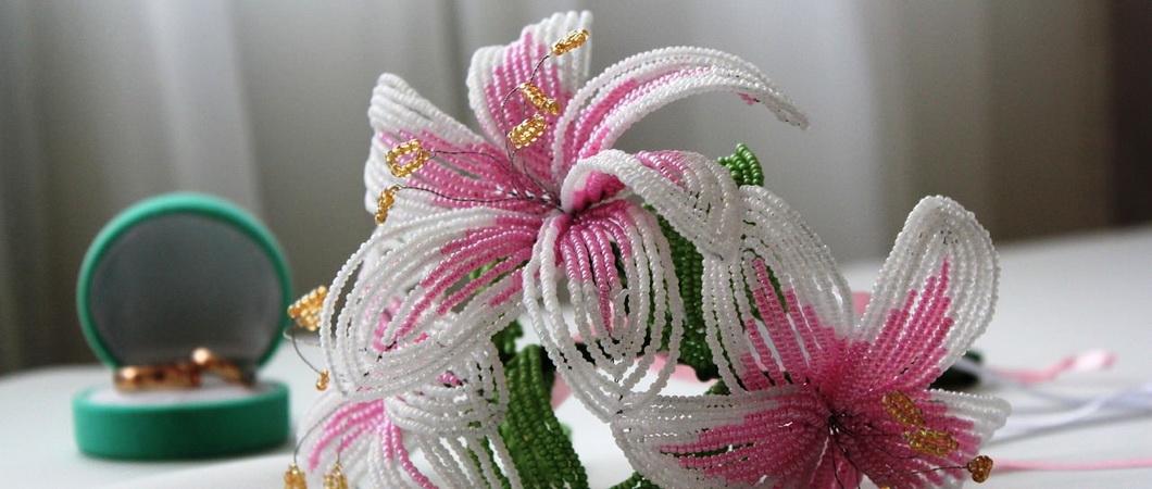 Бисероплетение: цветок «Тигровая лилия». Заколка для волос