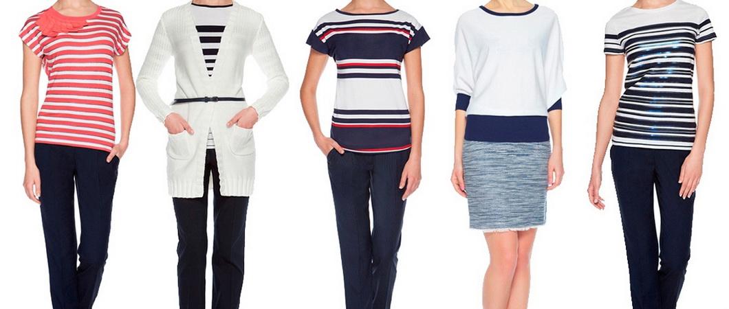 Модная одежда в морском стиле. 25 фото идей