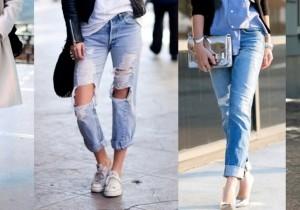 Луки с джинсами-бойфрендами