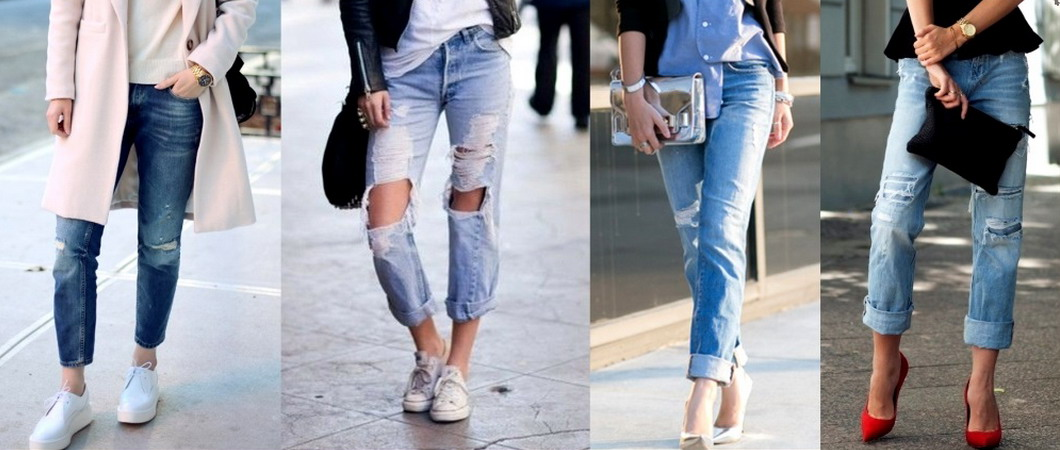 Женские джинсы-бойфренды: модные луки-2019