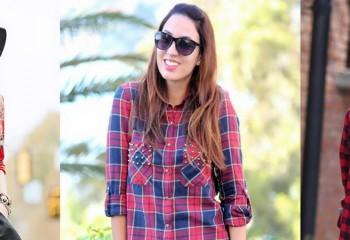 Женские клетчатые рубашки: с чем носить и как выбрать