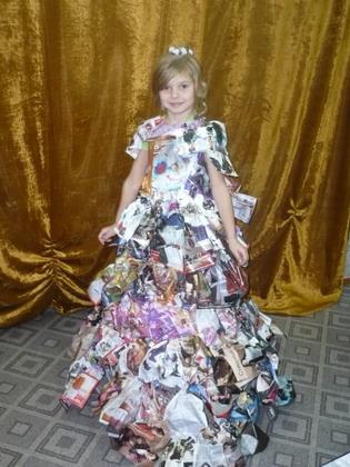 Как сделать платья из подручного материала для детей