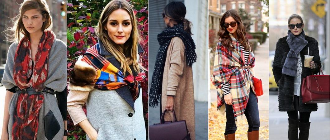 Как правильно и красиво носить женские шарфы