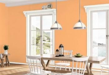 Персиковый цвет в интерьере спальни, гостиной, кухни и детской