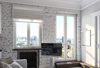 Белый кирпич в интерьере квартиры: дизайнерские идеи