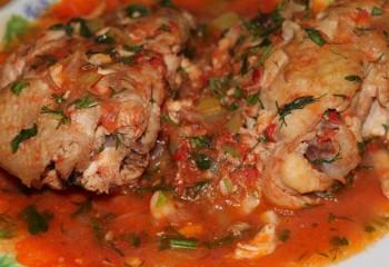 Чахохбили из курицы в мультиварке: пошаговые рецепты с фото