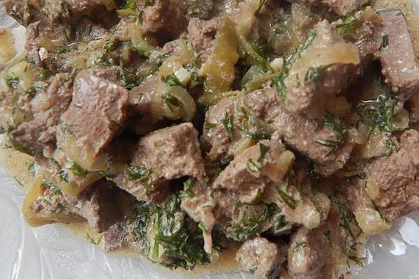 приготовить говяжью печень диетический рецепт