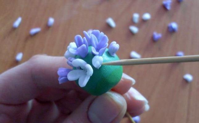 Василек полимерная глина своими руками