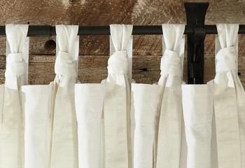 Как сшить льняные шторы на петлях своими руками