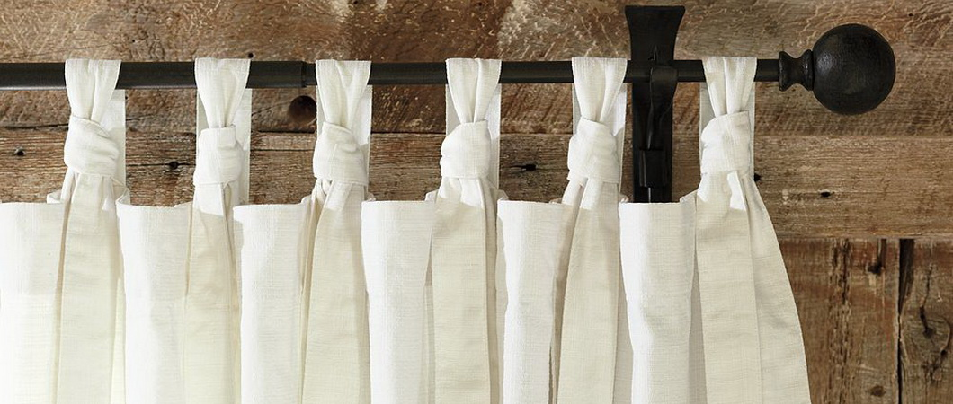 Как сшить льняные шторы на петлях