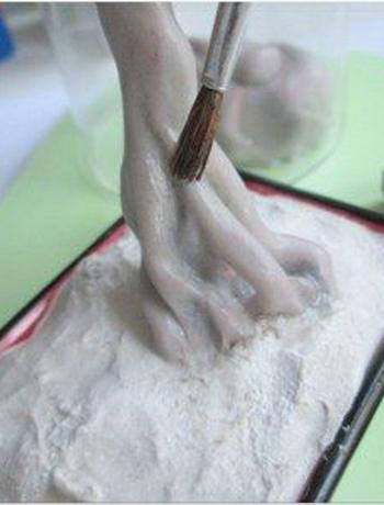 0407h-41 Шарнирная кукла своими руками из холодного фарфора, полимерной глины, запекаемого пластика, папье-маше. Как сделать куклу своими руками из холодного фарфора в домашних условиях