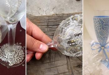 Мастер-класс по росписи свадебных бокалов своими руками