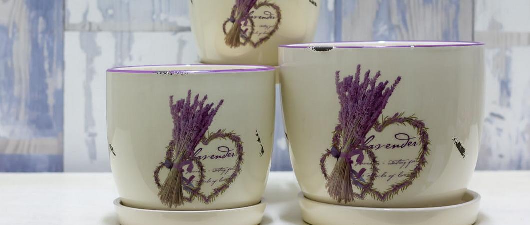 Декупаж горшков для цветов из глины и пластика