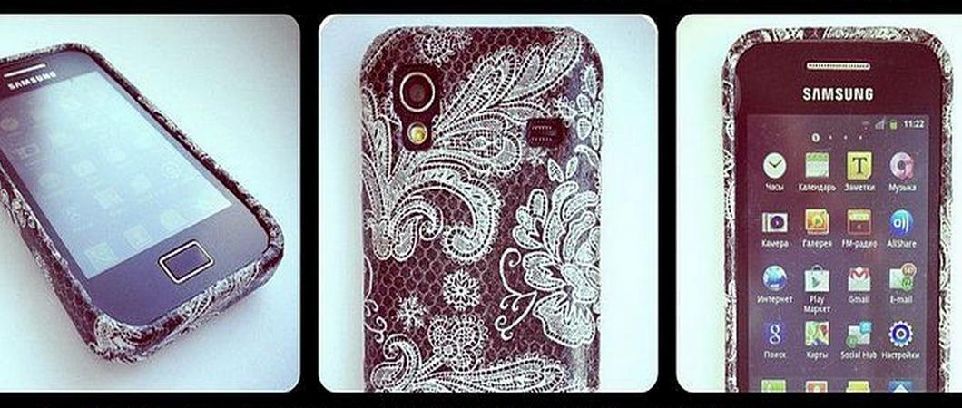 Декупаж чехла для мобильного телефона: варианты декора