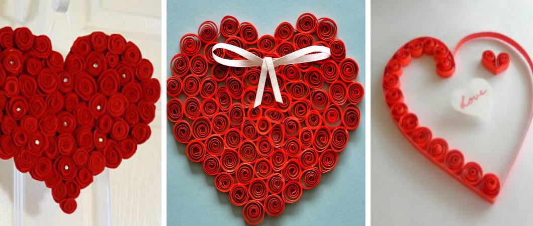 Квиллинг для начинающих: «валентинка» в форме сердца