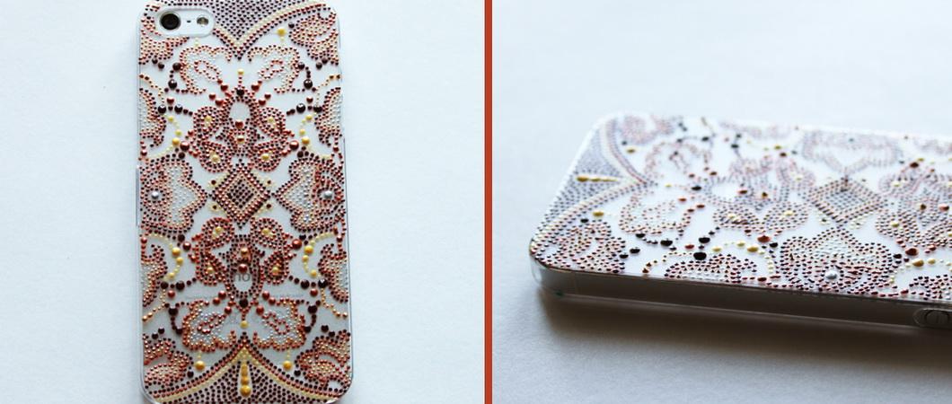 Варианты росписи чехлов для телефонов