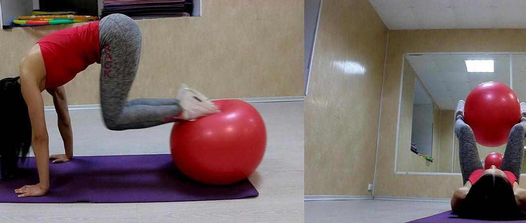 Упражнения с фитнес-мячом для детей и взрослых
