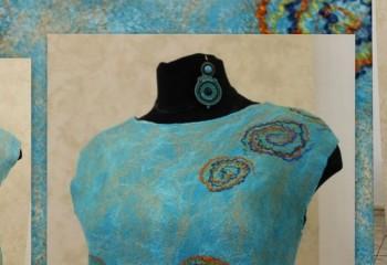 Платье методом мокрого валяния