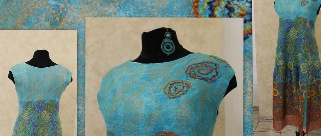 Платье методом мокрого валяния: мастер-класс