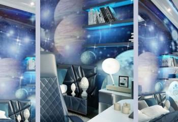 Оформление детской комнаты в космическом стиле