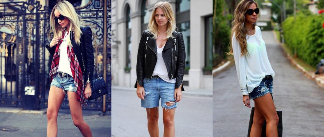 Модные шорты из джинсовой ткани