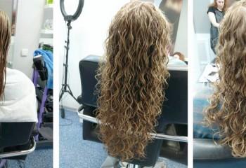 Как делают химическую завивку волос
