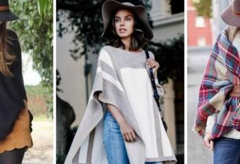 Женские пончо в разных стилях