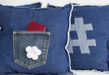 Наволочки из джинсов