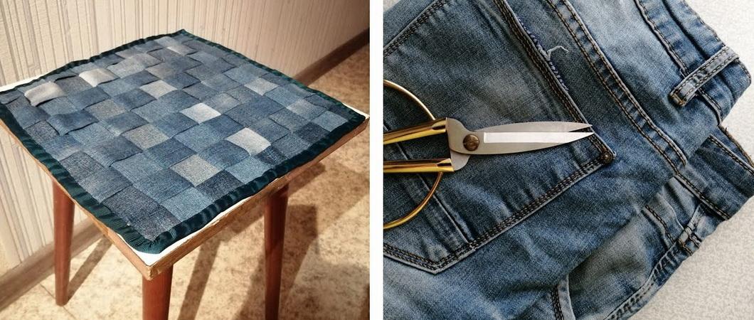 Аксессуары из джинсов для кухни