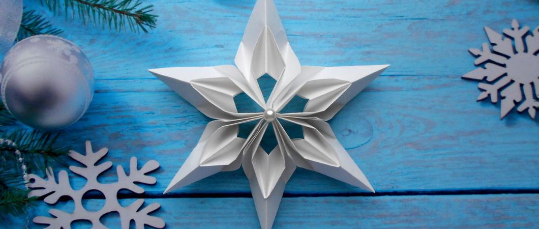 Как сделать снежинку оригами из бумаги своими руками