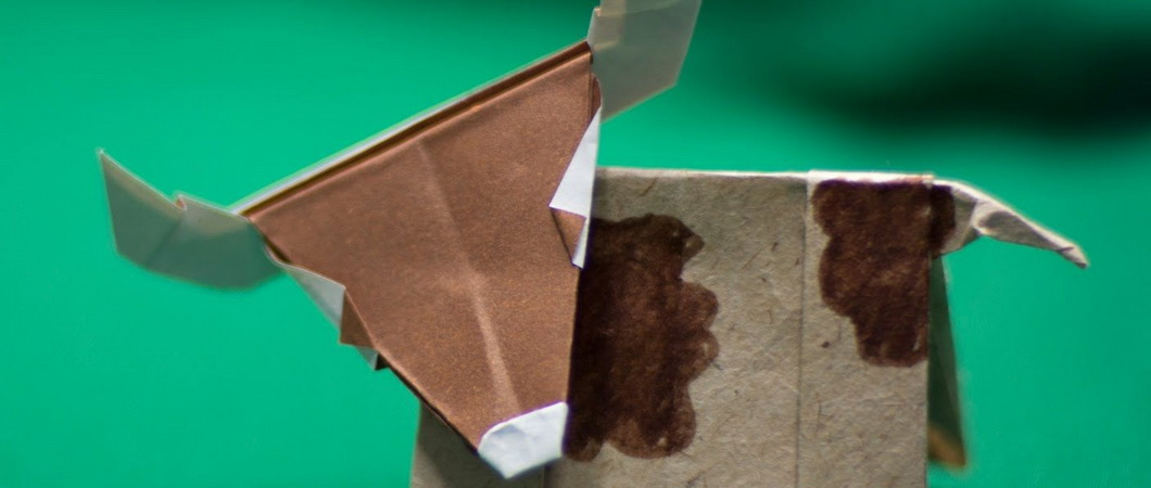 Поделка «Бык» в технике оригами