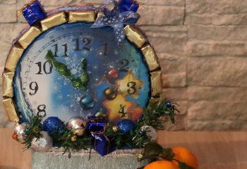 Новогодние часы: поделка своими руками