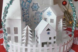 Новогодние поделки в виде домиков