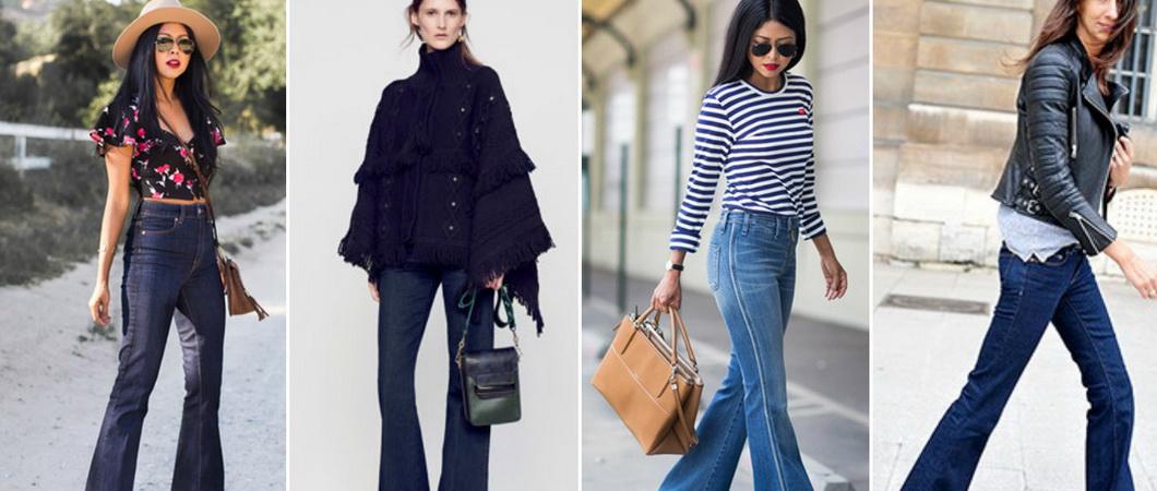 С чем носить женские брюки-клёш