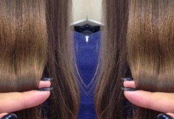 Экранирование поврежденных волос