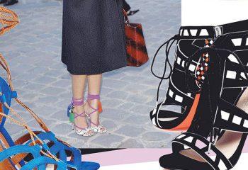 Босоножки со шнуровкой: стильные тренды