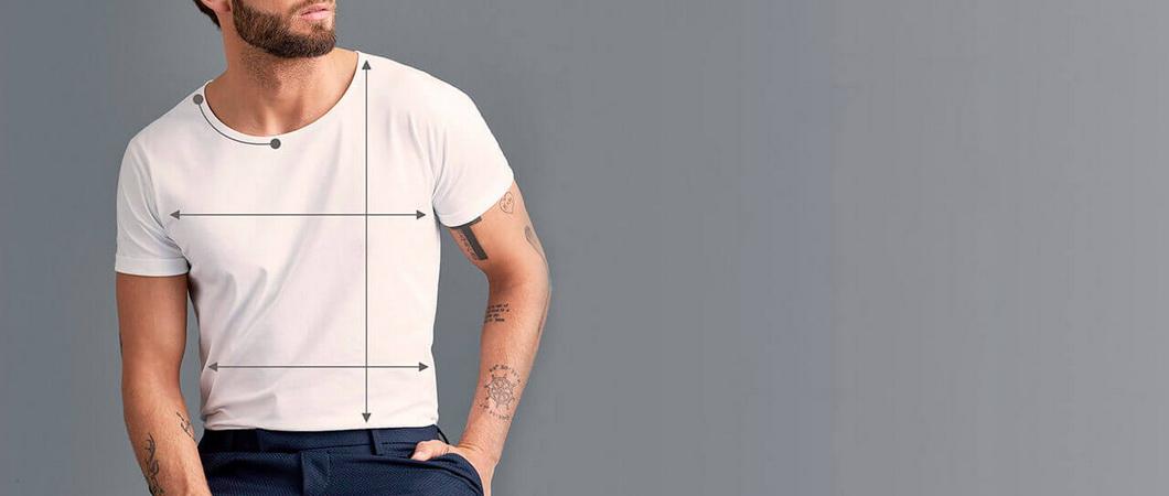 Таблицы размеров женских и мужских футболок