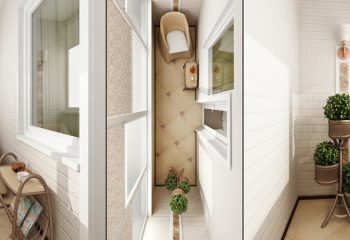 Стильный дизайн балконов и лоджий