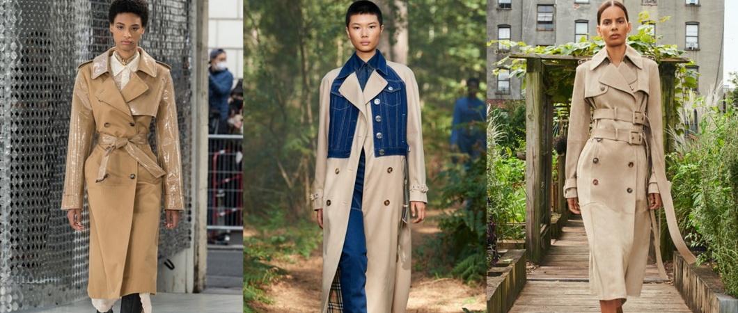 Тренчи, модные осенью 2021 года